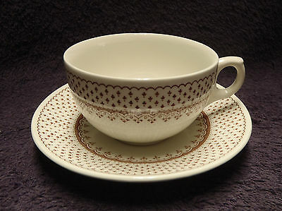 Franciscan Orleans Pattern Ironstone Cup and Saucer England