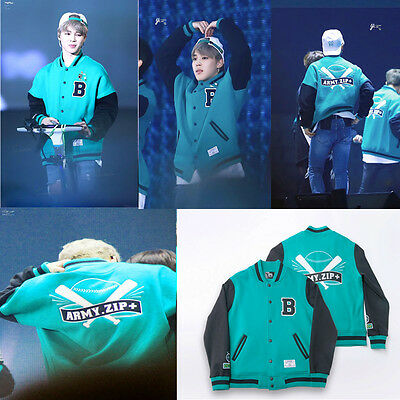Kpop BTS ARMY.ZIP+ Baseball Uniform Coat Varsity Jacket Bangtan Boys JUNG KOOK V