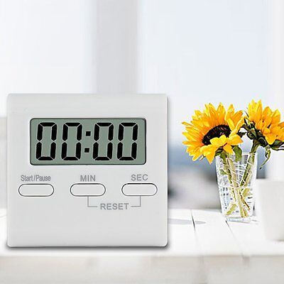 LCD Digital Kitchen Cooking Timer Count-Down Up Clock Loud Alarm Reminder Home