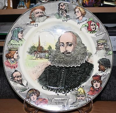 Royal Doulton Shakespeare Seriesware Cabinet Plate D6303. 10.5 inches diameter