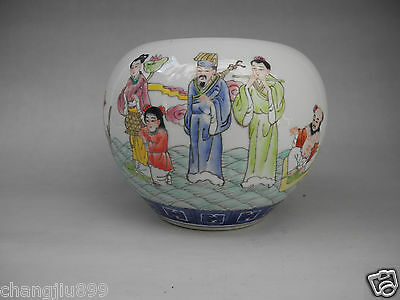 Chinese Famille Rose Eight Immortals Porcelain Brush Washers Mark