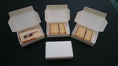 BARGAIN 10 White Wedding - Party Cake Boxes for a single slice of cake BARGAIN
