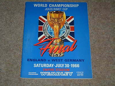 1966 World Cup Final England v West Germany in Excellent Condition Original