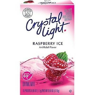 Crystal Light Raspberry Ice On The Go Drink Mix 17G