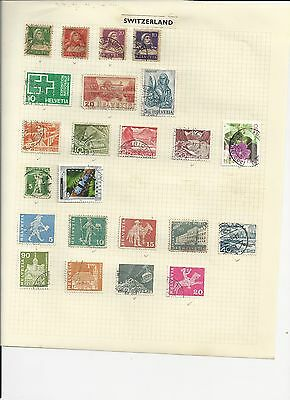 SWITZERLAND- COLLECTION OF USED STAMPS - #SWZ2ab