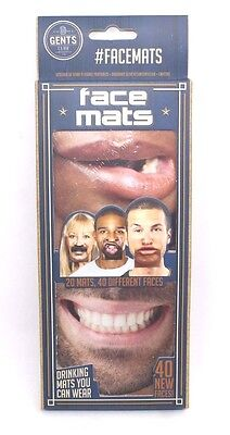 Face Mats 20 Double Sided Face Mats You Can Wear - Party Bar Beer Drinking Fun