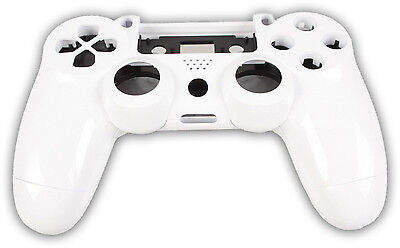 Playstation PS4 Controller Case Hülle Gehäuse Chrome Modding Cover Weiß