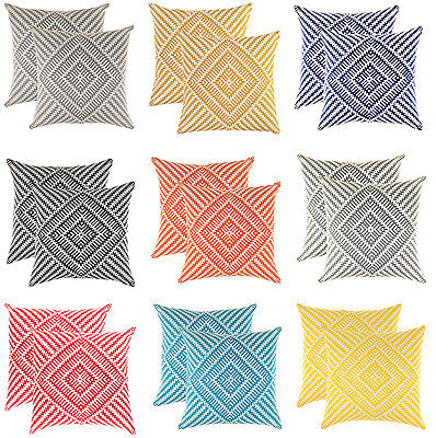 TreeWool, (2 Pack) Kaleidoscope Design Cotton Cushion Covers  (Seconds)
