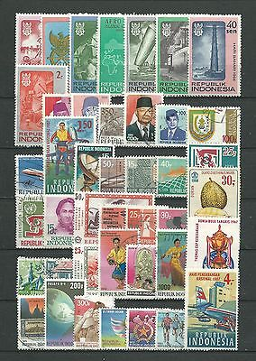 Indonesia, 42 Various, Used