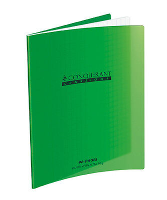 Cahier 24x32 - 96 pages - Seyes - Polypro vert