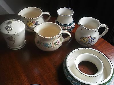 Collection Of Honiton Pottery 7 Vintage Pieces