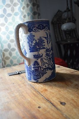 antique blue and white jug, 1839 Semi China