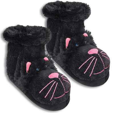 Aroma Home Fun For Feet Black Cat Slipper Socks - One Size Up To 9.5