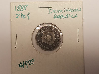Dominican Republic 1888  2 1/2 Centavos +FREE GIFT
