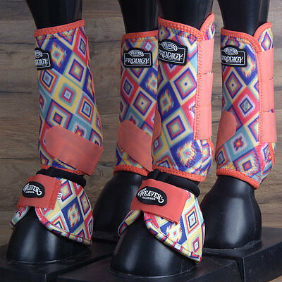 Med Weaver Horse Front Rear Leg 2520D Bell Prodigy Sports Boots 6 Pack Aztec