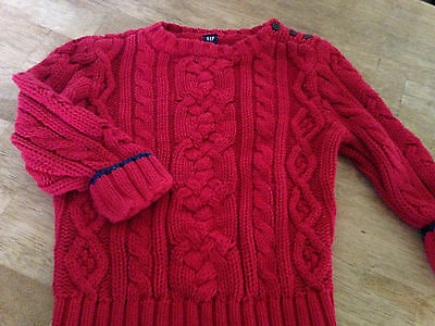GAP Boy's Red Holiday Sweater, Size 2T, EUC !!
