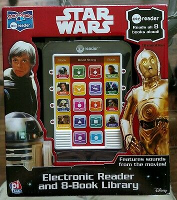Star Wars story reader Electronic Reader and 8- book library