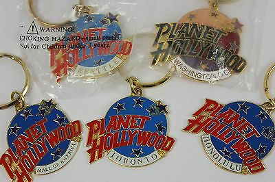 Lot of 5 Planet Hollywood Keychains Honolulu Seattle Toronto Washington DC MoA