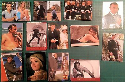 """James Bond Trading Cards Vol 1 """"The 60's"""", Connery & Lazenby 90 card set"""