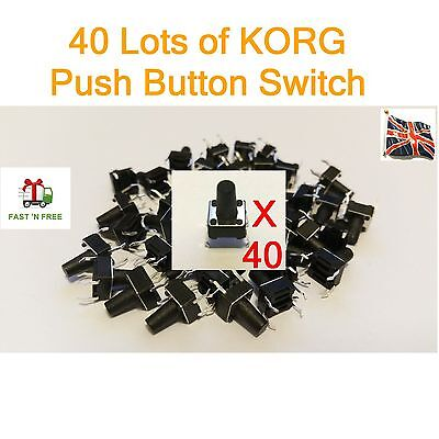 40 x KORG Push Button Switch X3  X5 N364 N264 TRINITY 01W T1 T2 M1 M1R 01/W UK