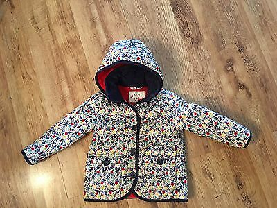 Marks & Spencer ~ Girls Floral Quilted Coat ~ Age 2-3