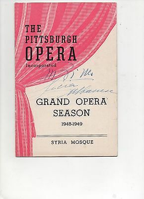 Playbill Grand Opera Lucina Albanese Signed Autograph 1948