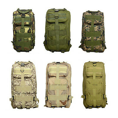 3P 30L Military Tactical Backpack Oxford Sport Bag For Camping Hiking Traveling