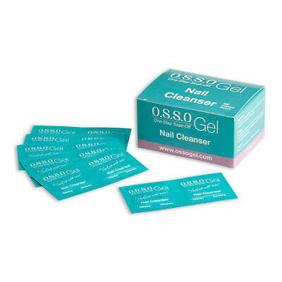 O.S.S.O Gel Nail Cleanser Wipes 100pcs nail preparation, cleanse grease dust