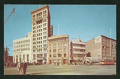 Vintage Postcard Winnipeg Manitoba Portage Ave and Main St North West  Unposted