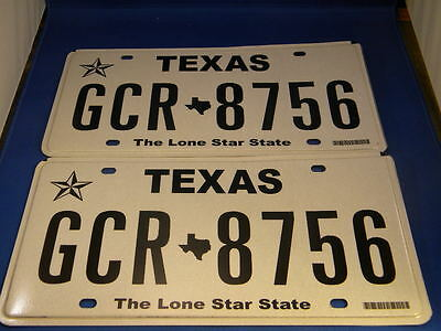 """Pair of Texas """"The Lone Star State"""" License Plates"""