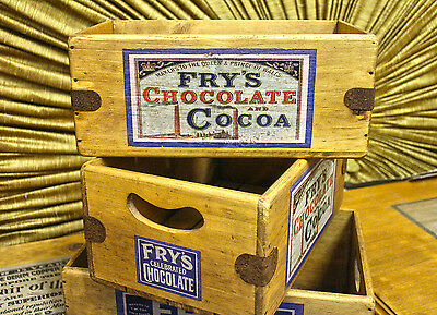 Chocolate Box Wooden Shop Display Crate Vintage Fry's Cocoa