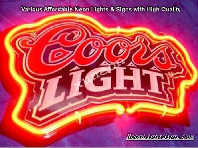 3D Carved Coors Light Neon Sign Beer Bar Pub Store Light [ FAST FREE SHIPPING]