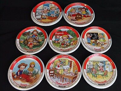 8 Collector Plates The Campbell Kids Collection- Danbury Mint