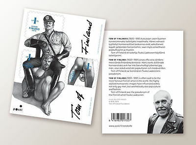 Tom of Finland stamps(sheet of 3 unused stamps)