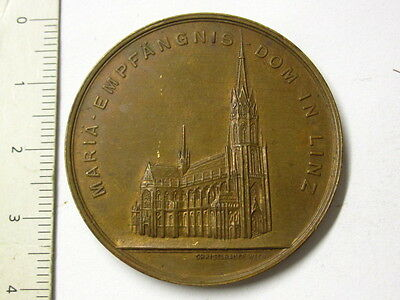 Alte Medaille Dom in Linz 1924