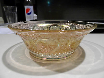 "7 1/2""  x  2 3/4""  Vintage Clambroth Star Medallion Bowl - Imperial"
