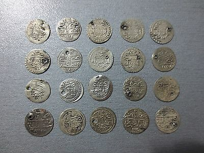 LOT of 20pcs QUALITY SILVER OTTOMAN TURKISH TURKEY ISLAMIC AKCE COINS RARE