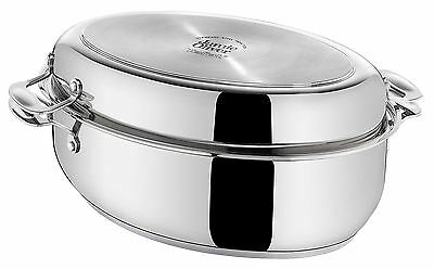 Tefal Jamie Oliver Professional Oval Roasting Tin Pan Stainless Steel 38x25.5cm