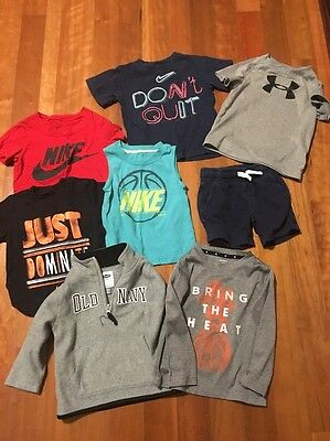 Boys Size 24 Month /2T /3t Lot Nike Under Armour T Shirts Short Sleeve