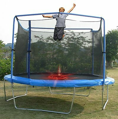 Trainor Sports 13-Feet Trampoline and Enclosure Combo with Flash Zone