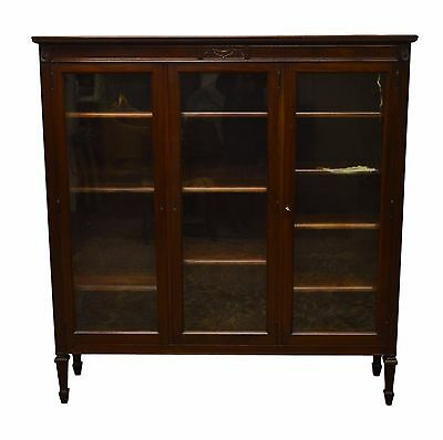 GEORGE C. FLINT Solid Mahogany 3 Door Bookcase