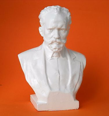 Original Soviet Russian  Bust of Composer Pyotr Tchaikovsky 1970s Made in USSR