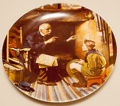 """Norman Rockwell Collectable Plate """"The Veteran"""" (Very Good)"""