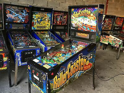 Pinball STERN ROLLERCOASTER TYCOON 2002 - USED - Flipper Full LED Conversion 9++