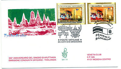 FDC 350° SYNOD AYUTTHAYA Sinodo - VATICAN 2014 JOINT First Day Cover VENETIA