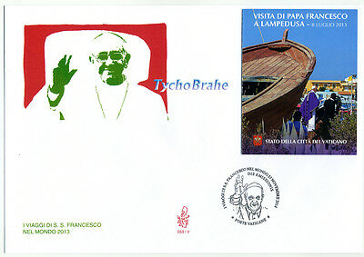 FDC JOURNEYS POPE FRANCIS Booklet VATICAN 2014 First Day Cover VIAGGI FRANCESCO