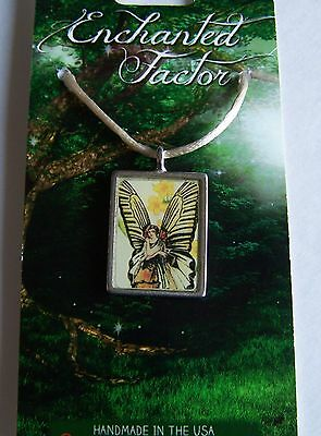 Monarch Butterfly & Fairy Pendant Necklace Lead-Free Pewter Handcrafted USA