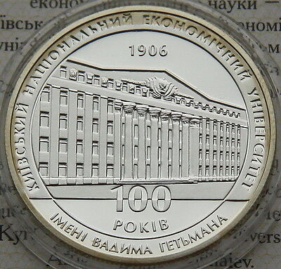 Ukraine 5 UAH 2006 PROOF 1/2 OZ Silver COA Kyiv National Economic University