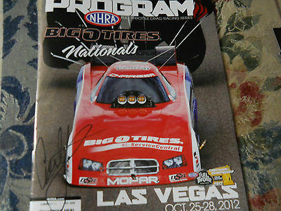 Courtney Force Signed Big O Tires Race Program