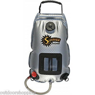 SUMMER SHOWER 2.5 GALLON - Camping, Hiking, Fishing, Solar Panel, Beach Fun